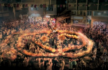 Hong Kong Celebrates the Mid-Autumn Festival with the Dazzling Tai Hang Fire Dragon Dance