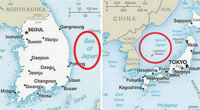 "Maps in Textbooks of 14 OECD Countries Represent ""East Sea"" Solely as ""Sea of Japan"""