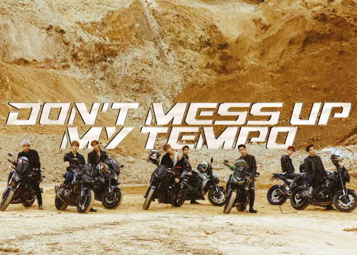 "Cover image for EXO's upcoming album ""Don't Mess Up My Tempo"". (image: SM Entertainment)"