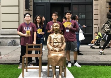 """Statue of Peace"" Part of Lineup at Korean Parade in New York's Manhattan District"
