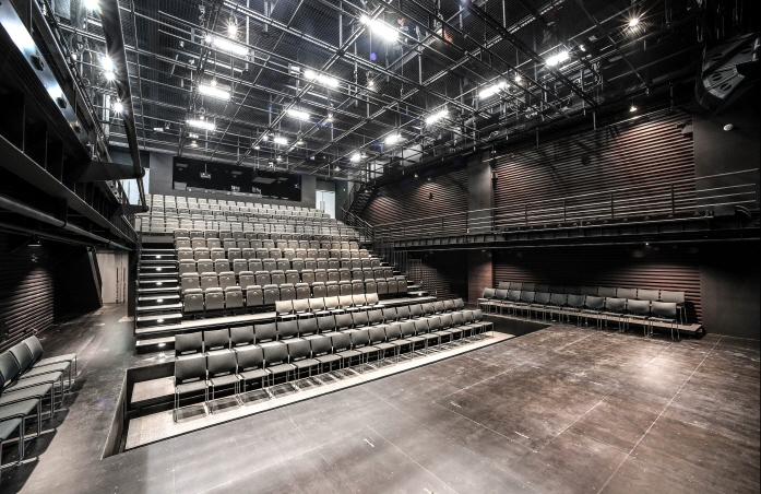 The new theater space has been created in the basement levels 2 and 3 of the Sejong Center in Gwanghwamun, boasting a floor space of 1,395 square meters. (image: Sejong Center for the Performing Arts)