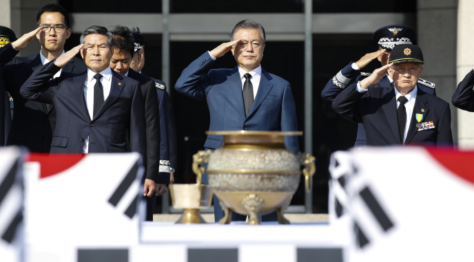 S. Korea Holds Ceremony for Repatriation of 64 War Remains