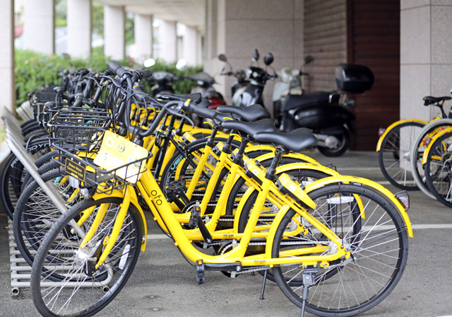 Ofo ended its bicycle sharing operations on October 31 and is currently collecting bicycles under its ownership from throughout the Busan region. (image: Korea Maritime and Ocean University)