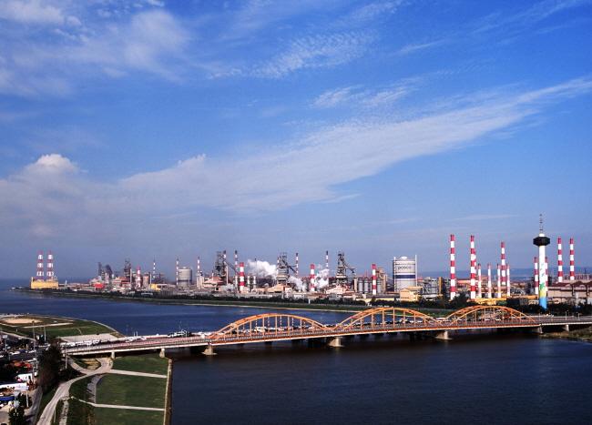 POSCO's steel plant in Pohang, N. Gyeongsang Province. (image: POSCO)