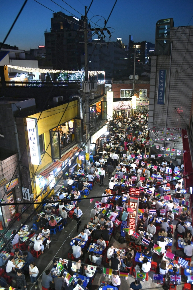 An aerial view of Seoul's Euljiro Nogari Alley. (image: Jung Ward Office)