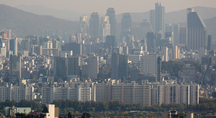 Apartments in Seoul's Gangnam district. (image: Yonhap)