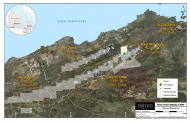 Osisko Metals Releases Pine Point In-Pit Inferred Resource: 38,400,000 Tonnes Grading 6.58% ZnEq