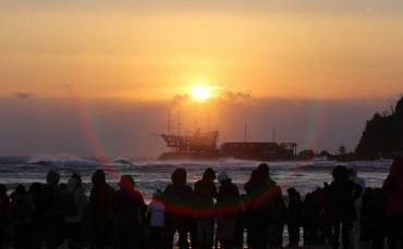 Jeongdongjin Coast Most Popular Spot for Sunrise Watching