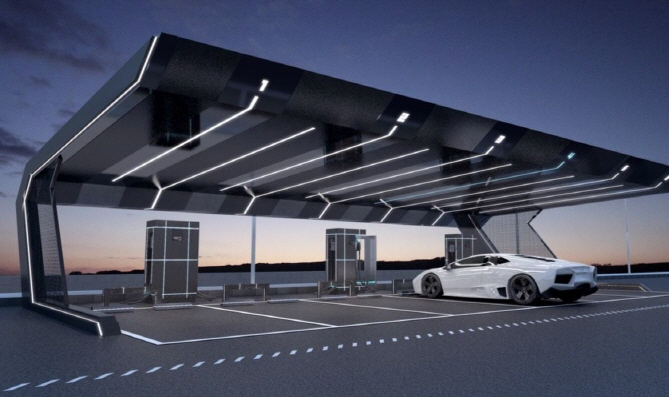 E-Mart Brings Charging Stations and Car-Sharing to Parking Lots