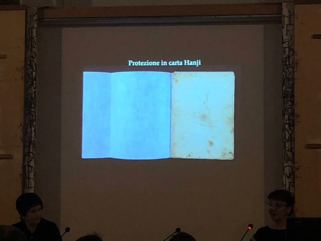 "Under the title of ""Leonardo and his secret"", ICPAL held a conference at its headquarters in central Rome for two days from December 10, announcing the results of the restoration project for some of Da Vinci's works. (image: Yonhap)"