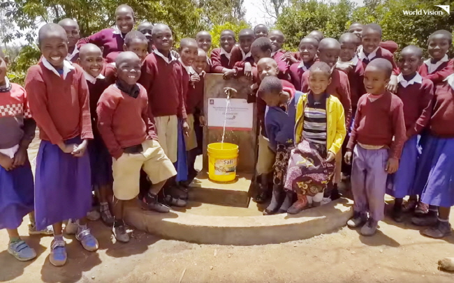 World Vision's tap water project in Tanzania. (image: World Vision)