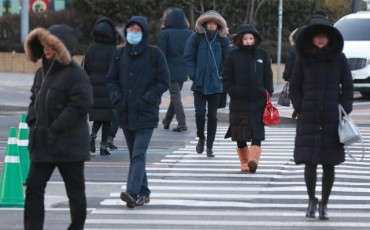 Cold Wave Hits S. Korea with Mercury Plunging to This Year's Lowest Levels
