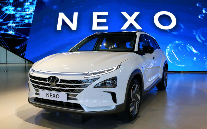 Hyundai's Nexo hydro fuel cell electric car. (image: Hyundai Motor)