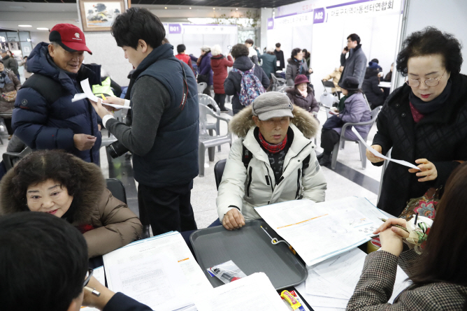 The results could be interpreted as indicating that health and being employed are the key factors affecting the perceived age of being elderly. (image: Yonhap)