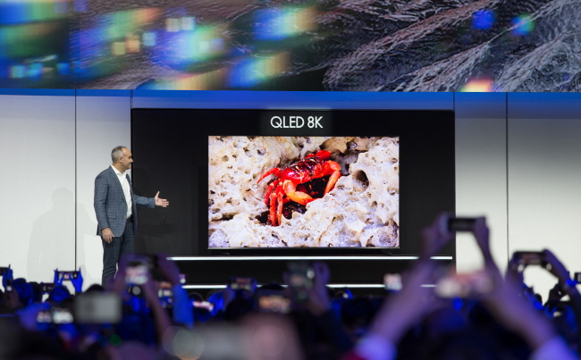 Samsung Electronics Co.'s 98-inch QLED 8K TV. (image: Samsung Electronics Co.)