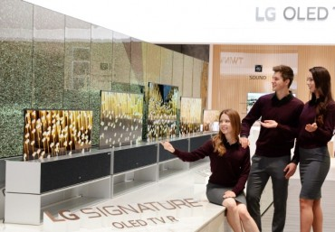LG Electronics Debuts Rollable OLED TV at CES