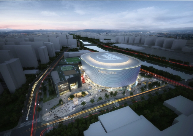 The 18,400-seat Seoul Arena scheduled to be completed by 2023. (image: Seoul City Government)
