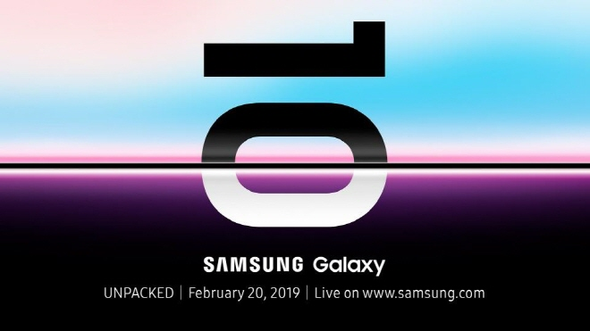 "A teaser poster for Samsung Electronics Co.'s ""Unpacked"" event for its upcoming flagship smartphone, the Galaxy S10. (image: Samsung Electronics Co.)"