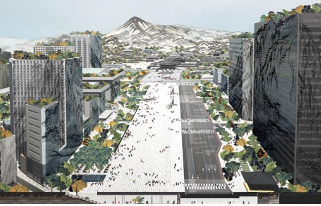 A rendering of the expanded Gwanghwamun Plaza in Seoul. (Yonhap)