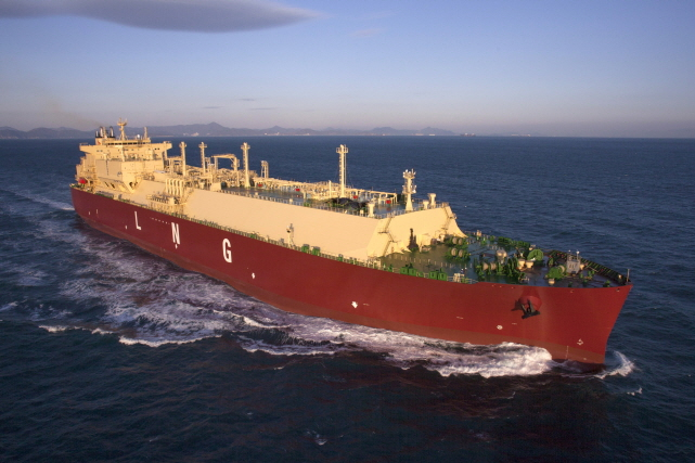 LNG ship built by Samsung Heavy Indutries (Yonhap)