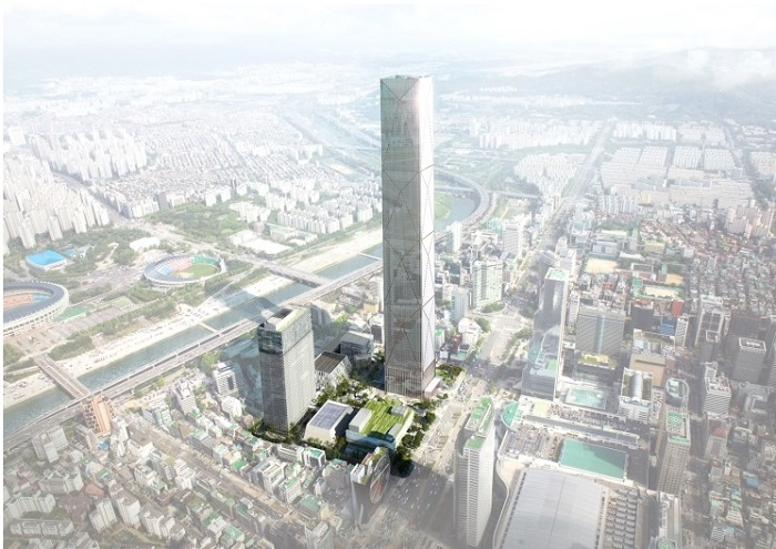 Hyundai Motor will invest 3.7 trillion won (US$3.2 billion) to build a 105-story Global Business Center. (image: Hyundai Motor Co.)