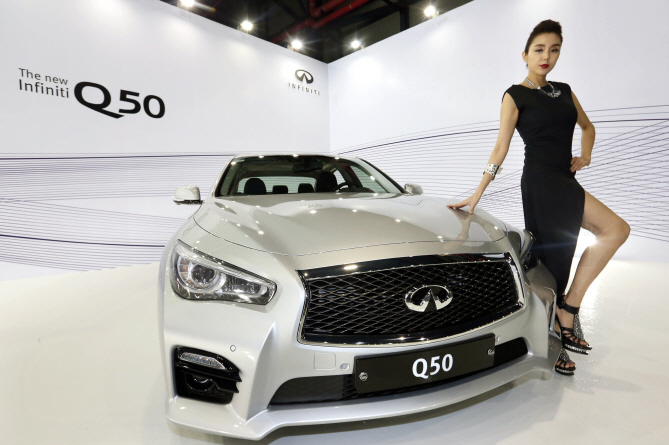 Nissan Korea sold 2,040 Infiniti Q50 2.2d sedans between February and November 2014. (image: Yonhap)