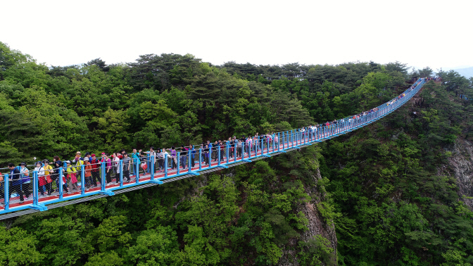 Wonju Swing Bridge Becomes Hot Tourist Spot