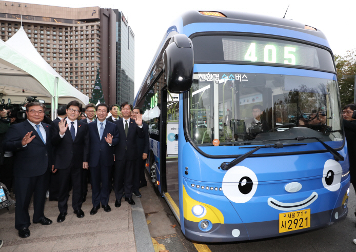A hydrogen-powered bus in Seoul (Yonhap)