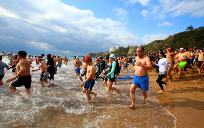 Seogwipo Holds Swimming Contest to Usher In New Year