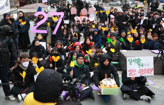 Comfort Women's Rally Marks 27th Anniversary