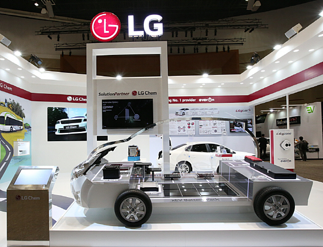 EV battery packs made by LG Chem. (image: LG Chem Ltd.)