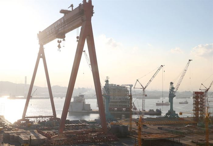 Top Shipbuilder Hyundai Heavy Industries Looking to Buy Smaller Rival: Sources