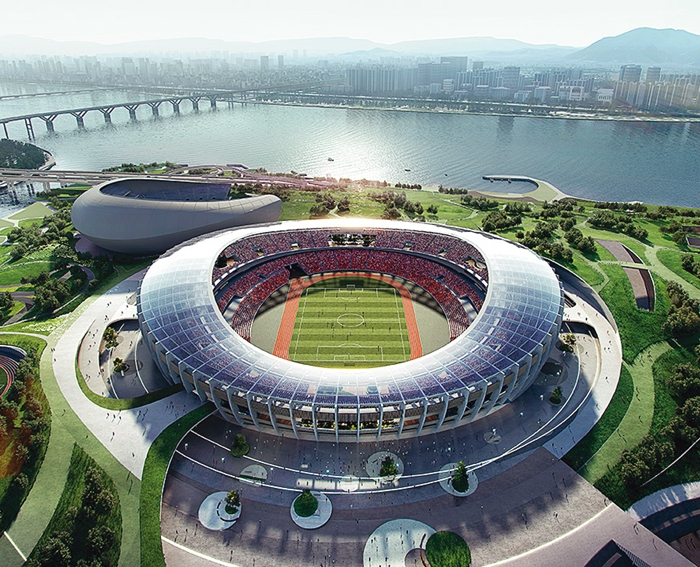 Seoul Olympic Stadium, which will go through renovations until 2028, will serve as South Korea's main stadium for the Seoul-Pyongyang Olympics. (image: Seoul Metropolitan Government)