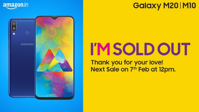 Samsung's Galaxy M Series Phones Sells Out Minutes After Launch in India