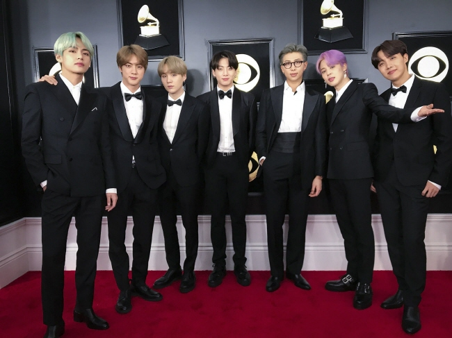 BTS ahead of the 61st Grammy Awards on Feb. 10, 2019 (U.S. time). (image: Big Hit Entertainment)