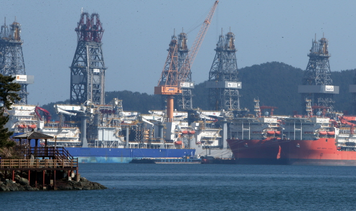 Okpo shipyard of Daewoo Shipbuilding & Marine Engineering in Geoje, South Gyeongsang Province. (image: Yonhap)