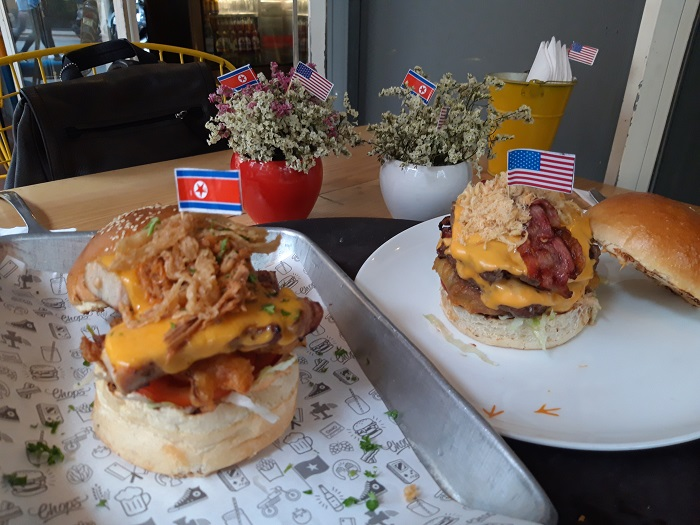 N. Korean Reporter Content with 'Summit Burgers' in Hanoi