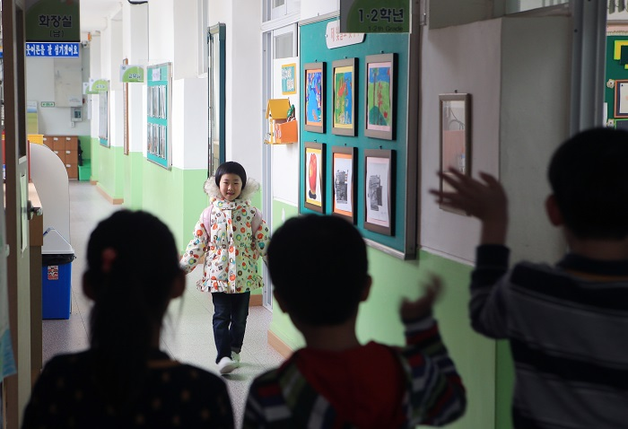 At Sodal Elementary School in Samcheok, an entrance ceremony will be held for a single student. (image: Yonhap)