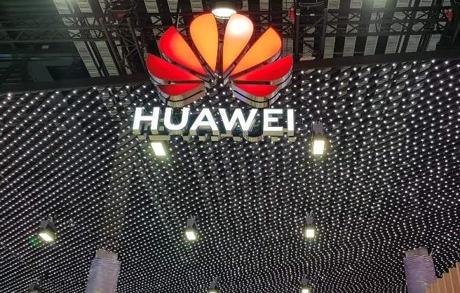 Chinese telecom equipment maker Huawei's logo is shown at its booth at MWC Barcelona, the world's largest mobile show, on Feb. 26, 2019. (Yonhap)