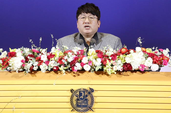 Big Hit Entertainment CEO Bang Si-hyuk reminisced that he did his best as if every day was his last day without compromising on the need to create the best content. (image: Yonhap)