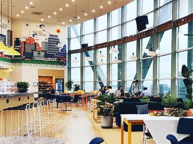 WeWork Jongno Tower co-working space in Seoul. (image: WeWork)