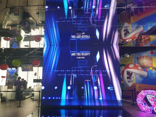 VR Station, South Korea's largest VR theme park near Gangnam Station in Seoul, is shown in this photo taken on March 18, 2019. It is operated by Hyundai IT&E Co., the IT solution service unit of retail giant Hyundai Department Store. (Yonhap)