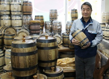 Yeongdon Oak Barrel Workshop Ramps Up Mass Production