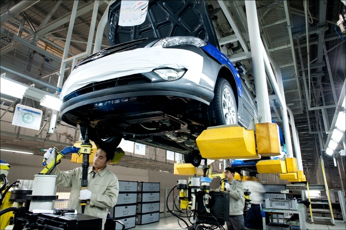 The #2 factory of Beijing Hyundai Motor Co., a joint venture set up between Hyundai Motor Co. and BAIC Motor Corp., located in Beijing, China. (Yonhap)