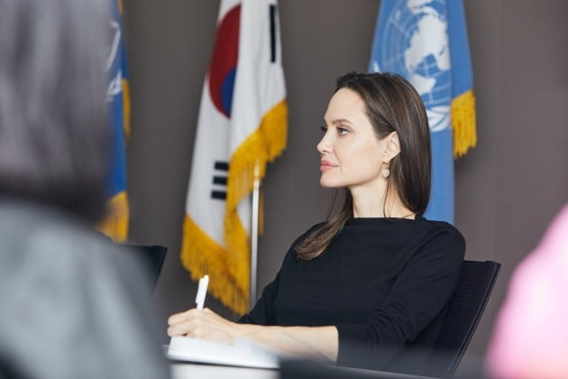 News reports said Angelina Jolie entered the country on Sunday to help her son with admission procedures. (image: The UN Refugee Agency)