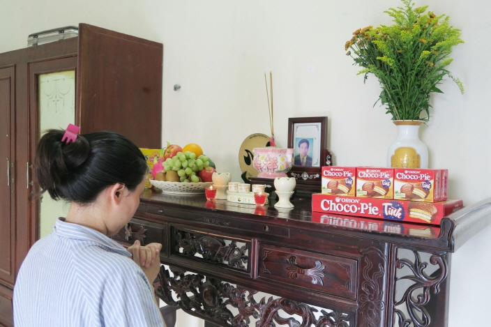 Officials at Orion reported that Choco Pies are now so loved that they are placed on the table at memorial ceremonies in Vietnam. (image: Orion Corp.)