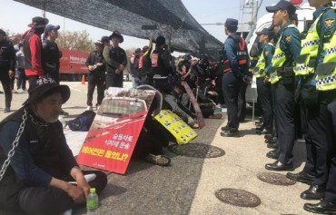 Nonhyup Logistics Truck Drivers Protest Dismissals