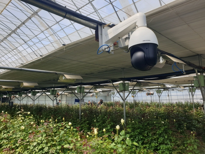 A floriculture greenhouse located in Goyang, north of Seoul, that is equipped with smart farming technologies. (Yonhap)