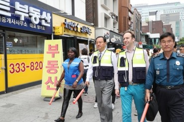 Foreign Volunteers Join Crime Prevention Patrols in Hongdae