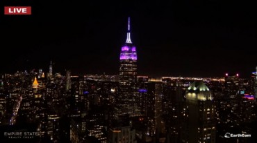 Violet-colored Empire State Building to Welcome BTS
